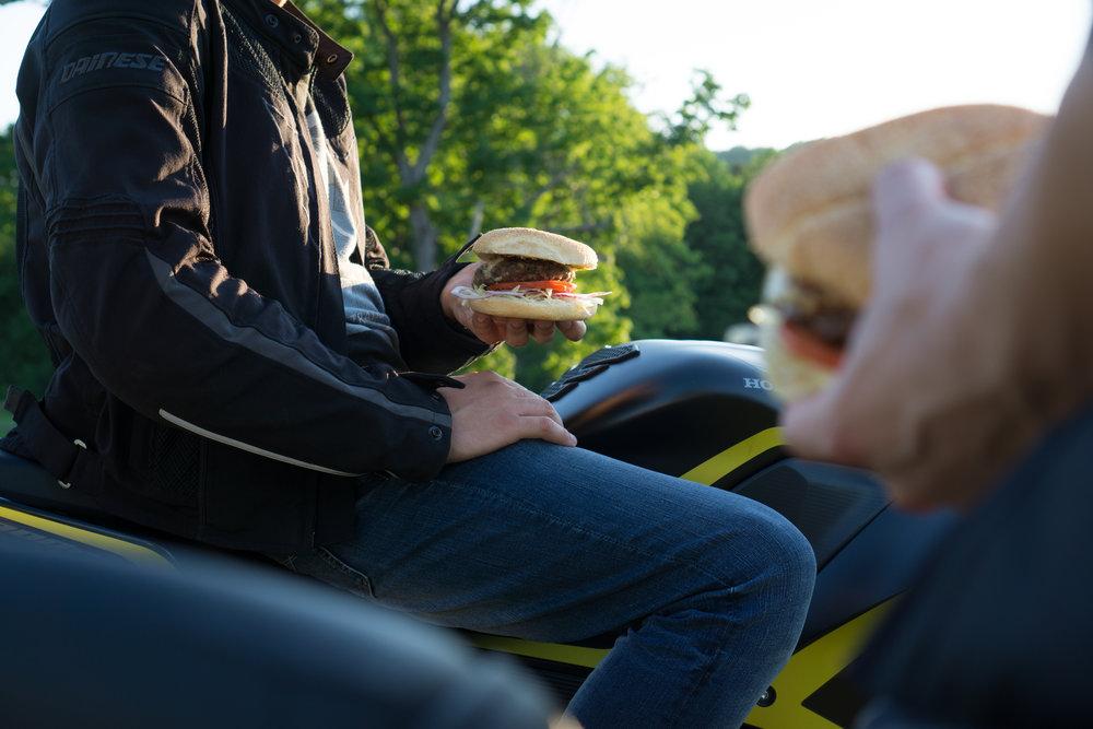 lifestyle commercial hamburger photo