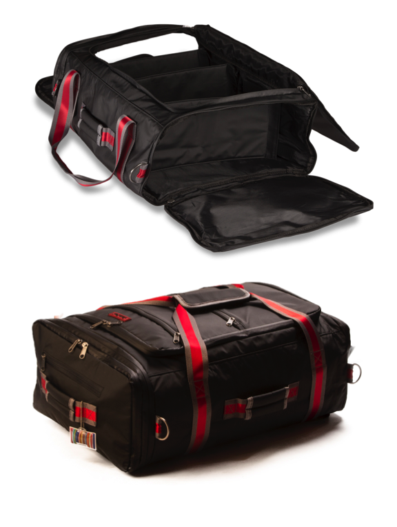 Access goods in your cabin bag in a jiffy thanks to our fantastic JamPac® travel holdall with multiple openings. Have a look at this very niche modular travel bag. You'll never find another like it!
