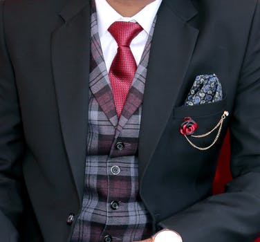 Accessories for men - ties, pocket handkerchieves, waistcoats