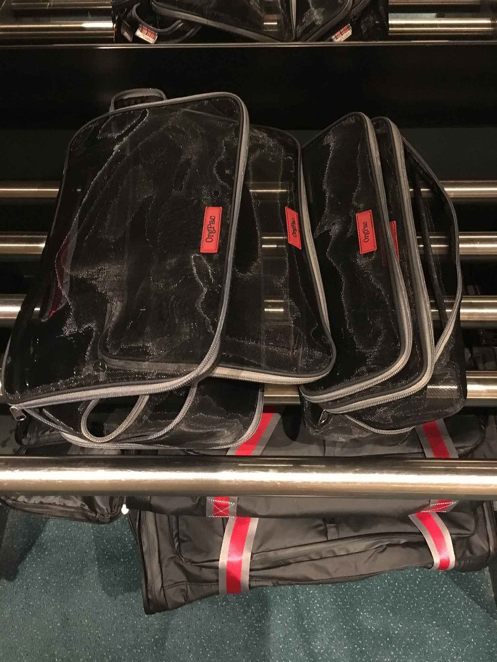 2 medium, 2 slim OrgPacs! Enough to contain a week's travel packing! Get x-large LeanPac products & easily store them away on arrival as they are all lightweight & take up minimal space.