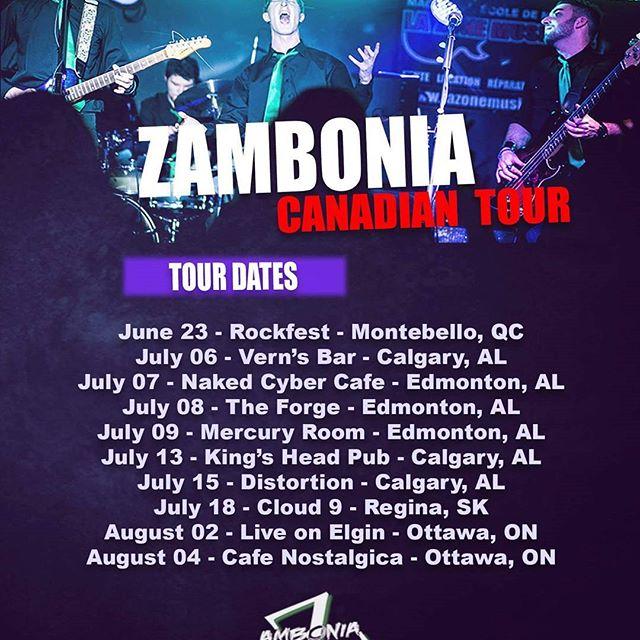 C'est plus qu'officiel! On commencera au Montebello Rockfest notre tournée canadienne 2017 qui se terminera le 4 août!  Alors si vous passez par l'Alberta, la Saskatchewan ou l'Ontario cet été, venez nous voir!  Un merci spécial à La Zone Musicale pour toute leur contribution au projet!