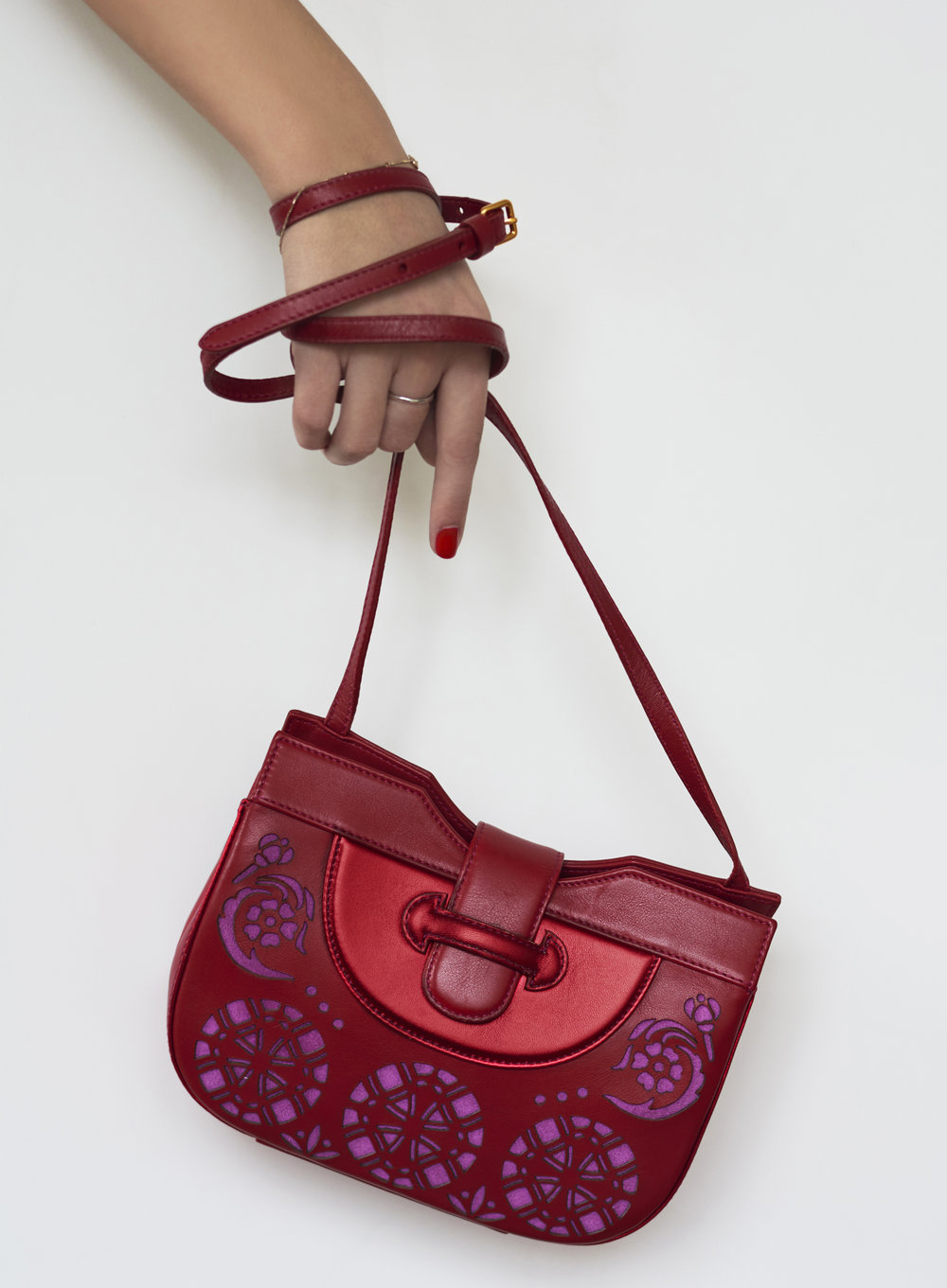 Deep red crossbody