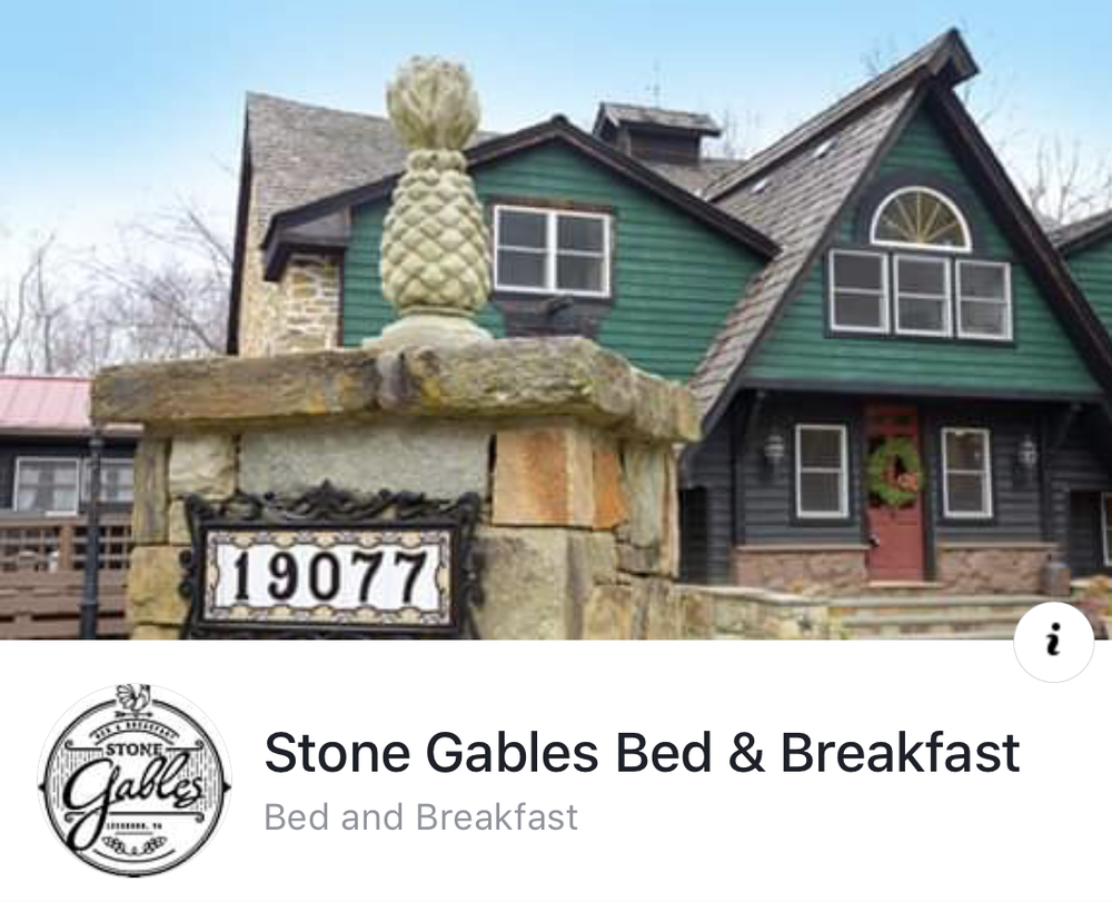- Stone Gables Bed & Breakfast19077 Loudoun Orchard RdLeesburg, Virginia 20175703-303-6364