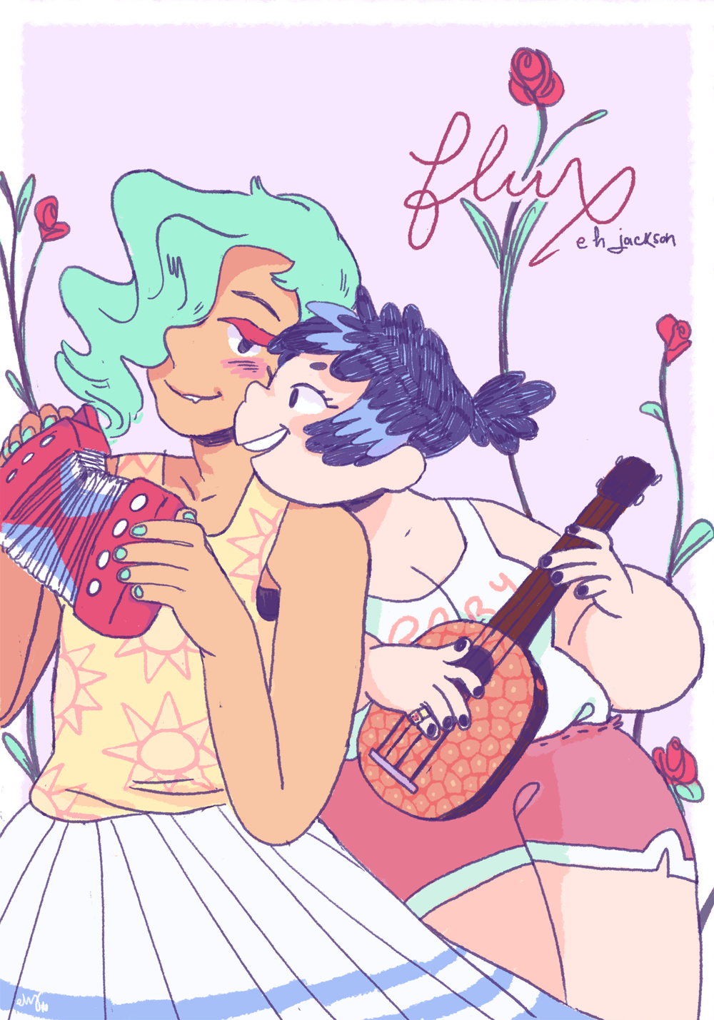 FLUX , 12 pgs, color, 2015   Nominated for PRISM Awards Best Short Form Comic 2017   gender identity, transitioning, and trying to start a band with your best friend.