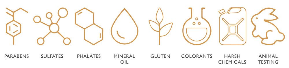 N8 Beauty products are all paraban, sulfate, phthalate, mineral oil, gluten, colorant, and harsh chemical free. We never test on animals.