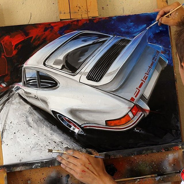 """911 Inspiration"" Artwork by Chris Dunlop  galleryofspeed.com . . . #porsche #porsche911 #porscheclub #porschedesign #porschelife #pinstripechris #art #artwork #fineart #gallery #acrylicpainting #oilpainting #lagunabeach #stuttgart #nurburgring #germany @plmotorsport @automobilemag @morriswelford @rennlist @gruppechat @jalopnik @pinstripe_chris @slot_mods_raceways @meguiarsusa @plmotorsport @motorcar_collector @monsieur_jouet_ancien @vq930 @bob_est_ton_oncle @autokennel @autoconduct @autofocusedbyroycer924 @cobralfa @tannerfoust @williamanast @evertstudio @secretcarclubevents @dailycarcoverage"