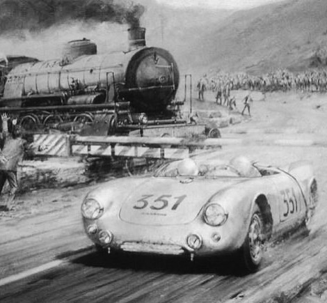 """Risk it All"" Porsche 550 Spyder  Image provided by  Alloycar  galleryofspeed.com . . . #porsche #porsche550spyder #porsche550 #porscheclub #porscheclassic #porschedesign #porschemuseum #porscheartdaily #alloycar #art #artwork #fineart #gallery #automotiveart #racing #stuttgart #nurburgring #germany #scca @sundaysteeloc @stuttgart_garage @jerryseinfeld @jd_classics @morriswelford @canepamotorsport @jim_busby @pinstripe_chris @slot_mods_raceways @autokennel @autoconduct @autofocusedbyroycer924 @alongfortheride__johnstraub @bentonperformance @williamanast @pikagt3 @swb_studios @livelagunabeach @livenewportbeach @leftcoastcars"