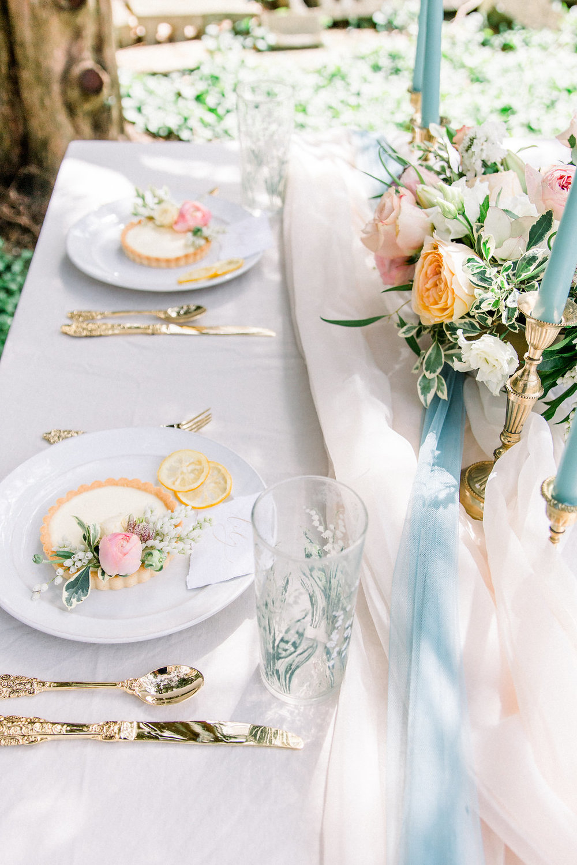 Wedding table decorations.