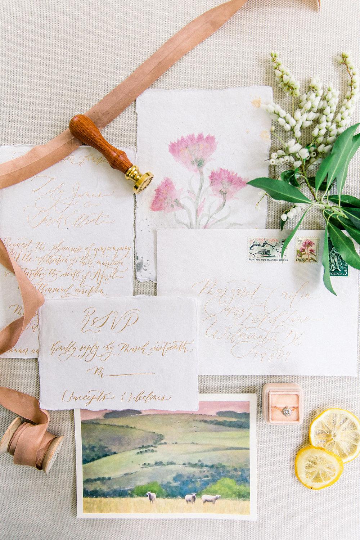 Wedding Suite calligraphy.