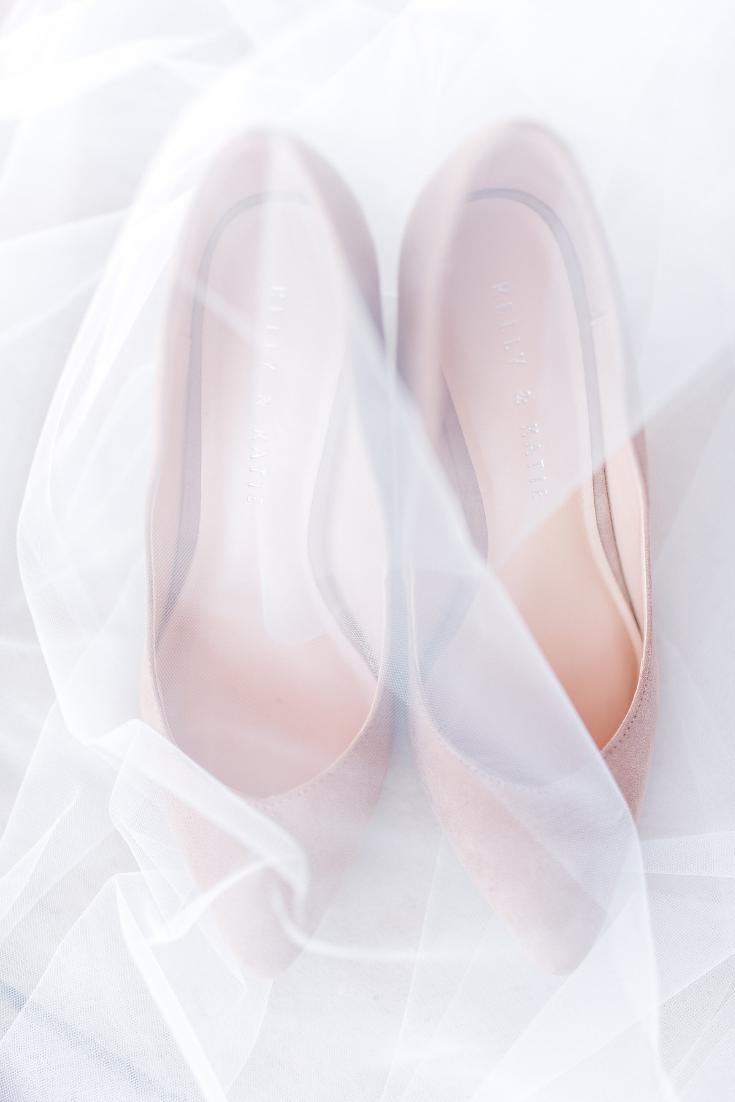 Nude wedding shoes