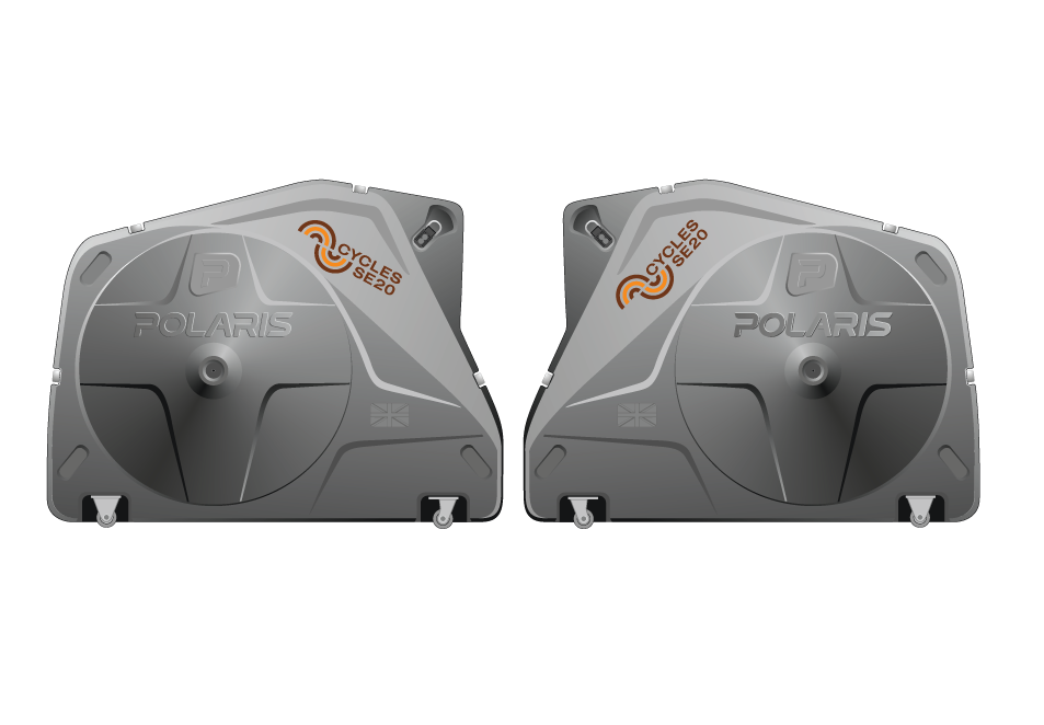 Polaris Bike Pod - At Se20 our pods have travelled quite extensively having seen service at a host of European sportives, World championships in both Road racing and Triathlon, Ironman in the USA, Winter Training Camps on Majorca and family holidays around the globe...Where will you take our Pod this year...?