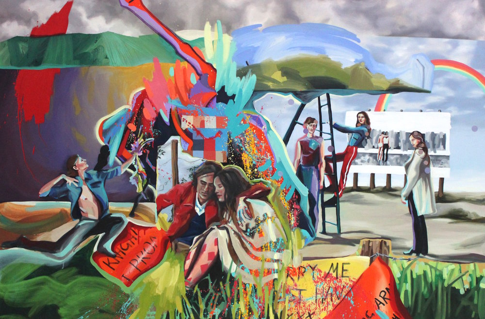 The Ballad of Hippie John  175x135cm Oil & acrylic on canvas 2018
