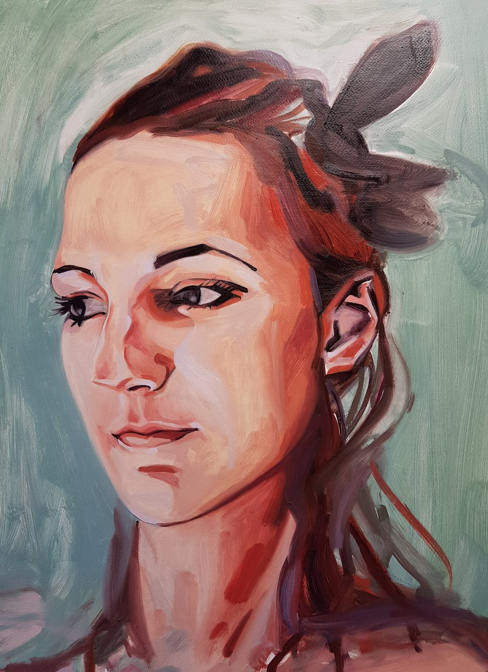 Self Portrait   70x50cm Oil on paper 2018
