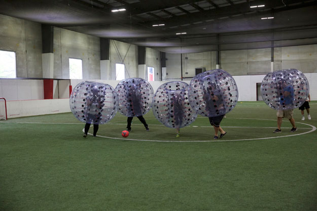 Bubble Soccer at Chicago Indoor Sports Stadium, Arena & Sports Venue in Chicago, Illinois