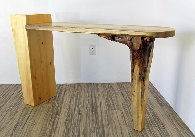 wedge root console table