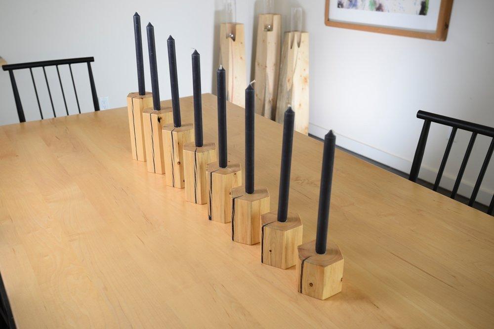 basalt candleholders