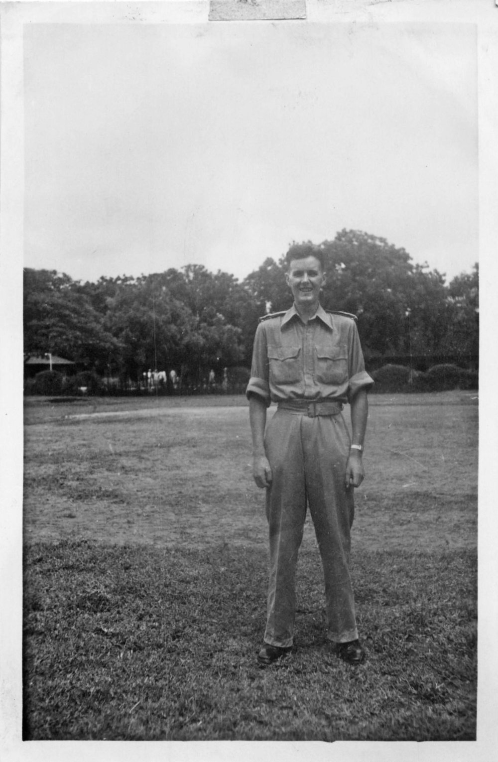 """Photo: Bill, outside """"D"""" Wing, Lucknow, India 1943"""