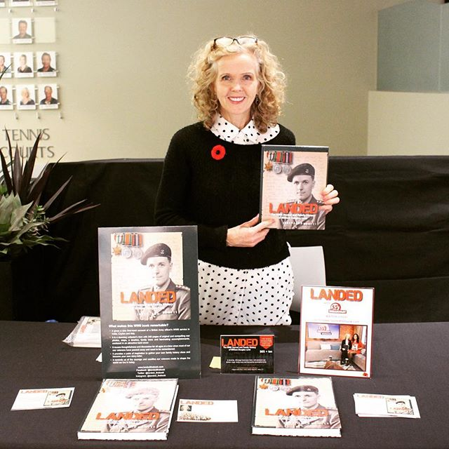 Author Janet Land at the Mayfair Lakeshore Holiday Market. Thanks to everyone who came by! Photo Credit: Alexandra Stirling www.landedthebook.com . . . . #wwi #wwii #lestweforget #britisharmy #author #book #authorsofinstagram #history #journal @toronto