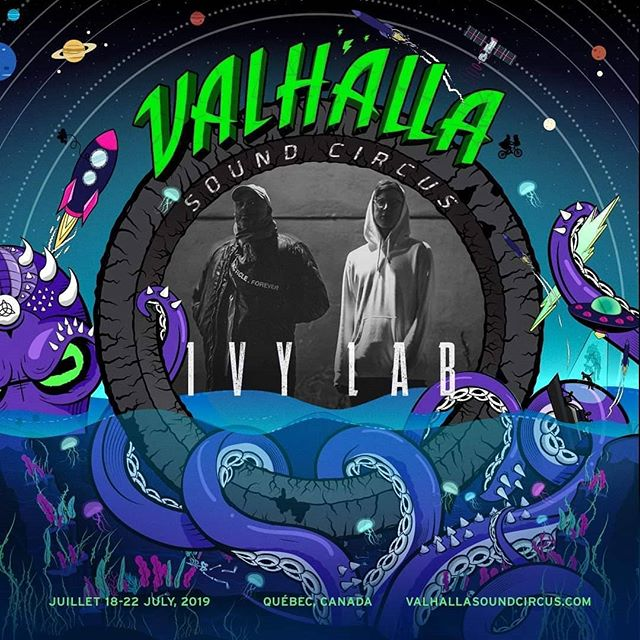 VSC 2019 Artist Announcement/Annonce D'artistes: @ivylab 🦑⚡ #valhallasoundcircus