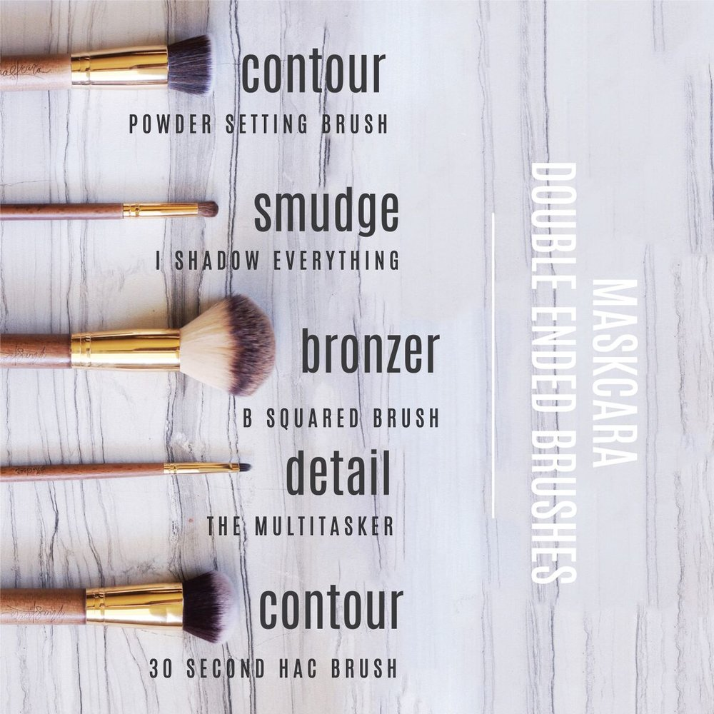 Maskcara Beauty Double Ended Brushes - Maskcara Artist #5719