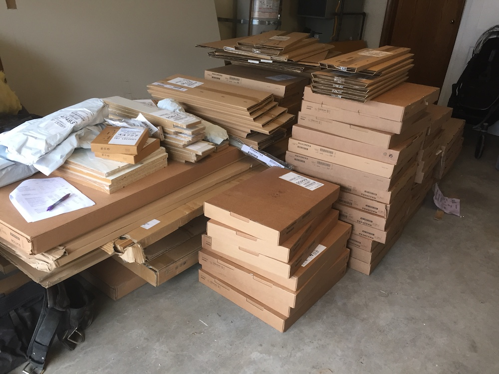 Ikea Kitchen Cabinets arrived! So So many boxes!