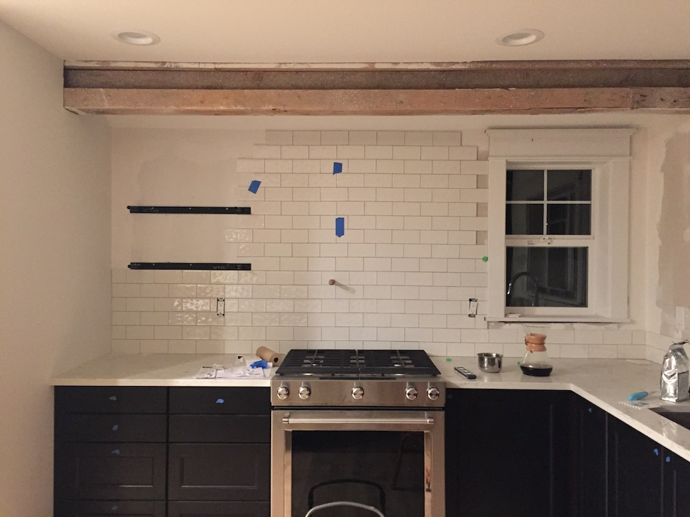 We did part of the work in the remodel ourselves. My husband and I did most of all of the demo.He put all the Ikea cabinets together.