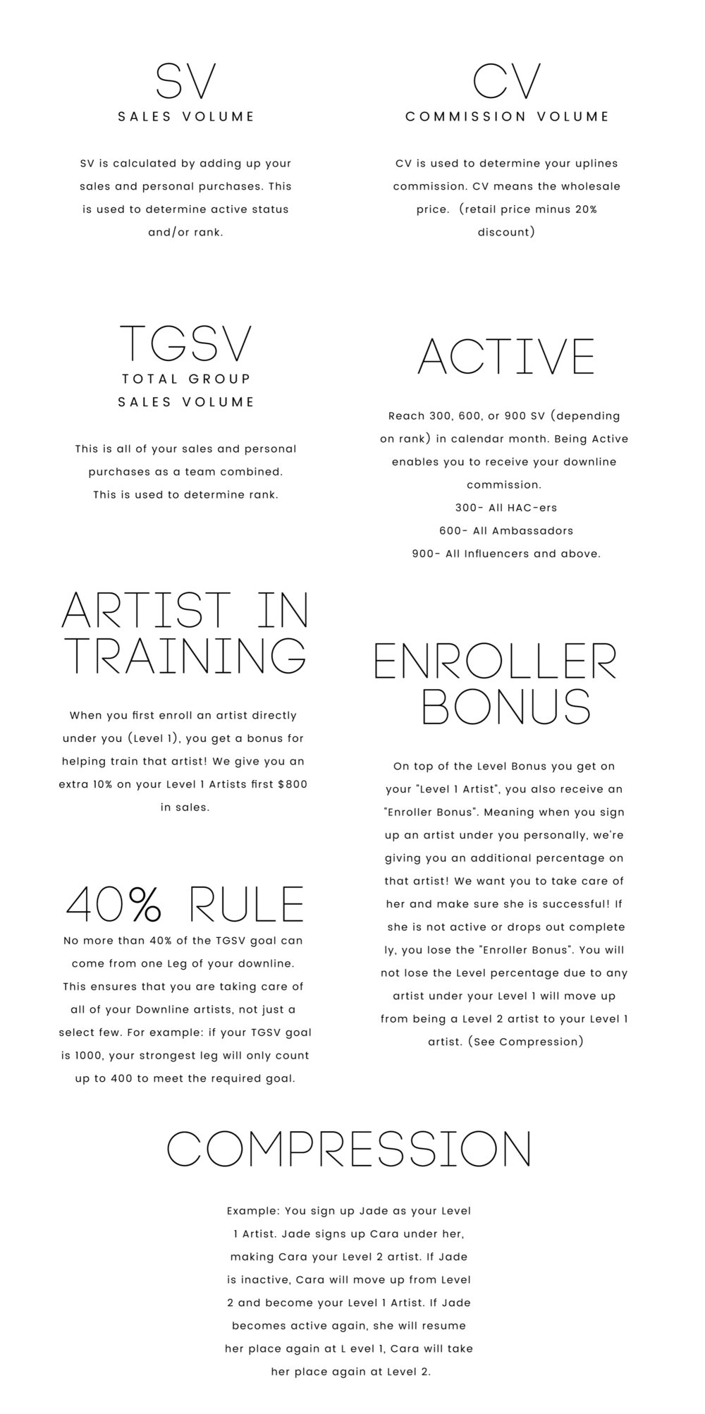 Maskcara Artist Glossary of terms. Learn What SV, CV, Active and more!