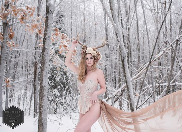 @aibphotog Daily Choice winner this week!! 🎉 Love my fantasy themed shoots. They just keep me alive! #fantasyshoot #fantasyboudoir #boudoirwisconsin #antlers #crown #winterboudoir