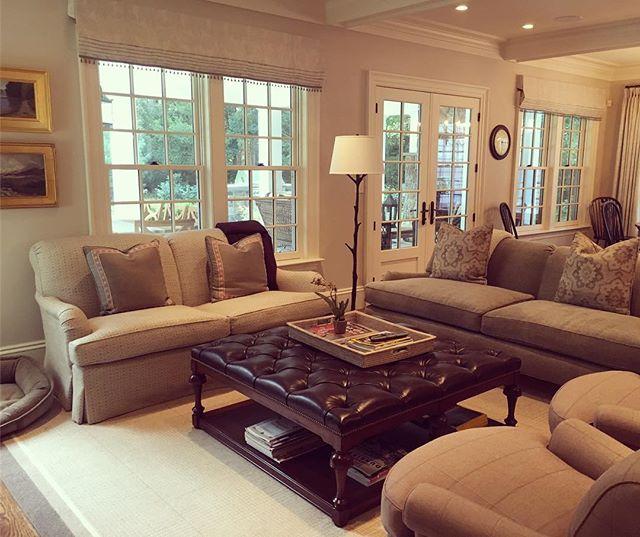 Family Room #graysandplum#OHenrysofasandchairs #starkcarpet #PatrickAhearnArchitect