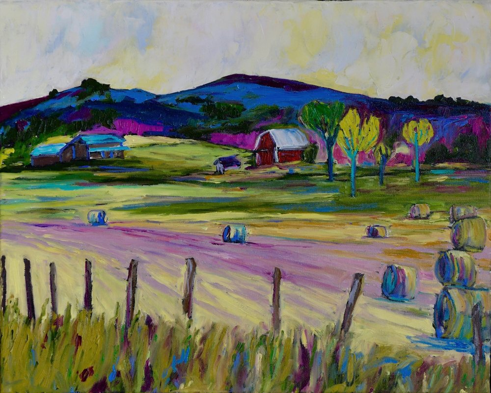 """Hay-Day"" in the Gatineau Masham,Quebec 16h 20w Unframed $550"