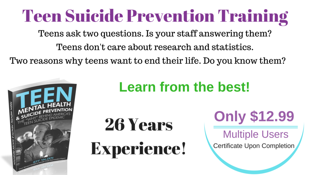 Teacher Suicide Prevention Training Certificate