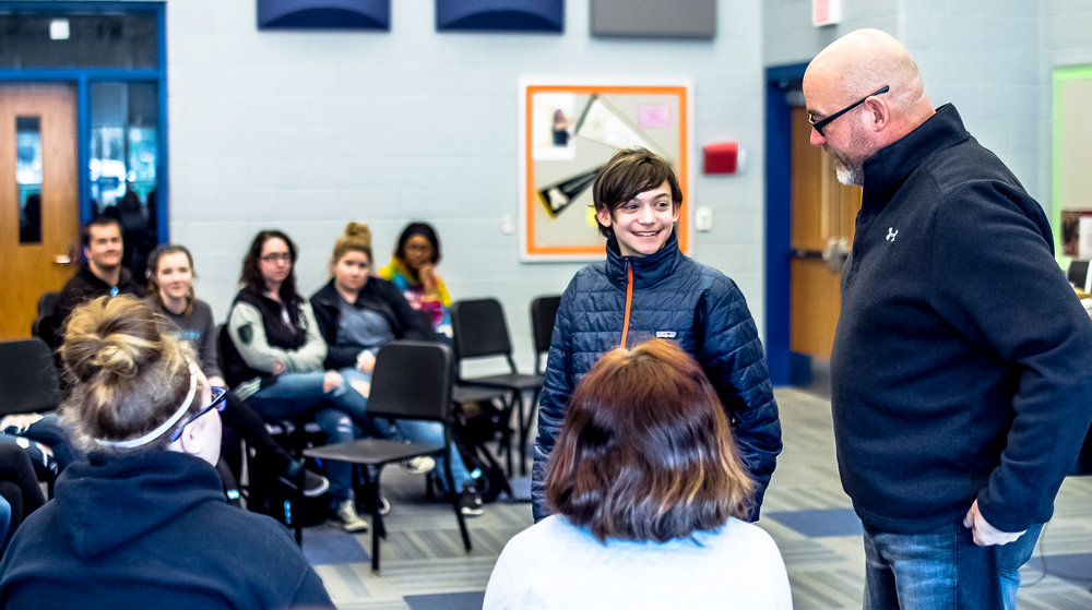 Teen Mental Health speaker Jeff Yalden spends time with individual students and groups of students during his visits to school communities.