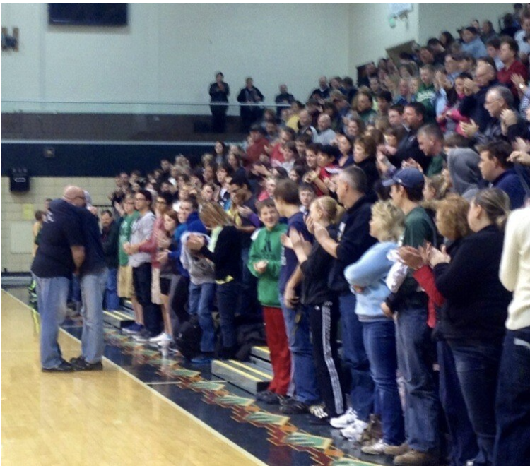 Jeff Yalden speaks to a community of 2,000 following the suicide of a 9th grader. Here, the students father comes out and sits front row. During Jeff's talk, he realizes who this gentleman is and everything stops - Time to give this father a hug. The whole community came together that night.