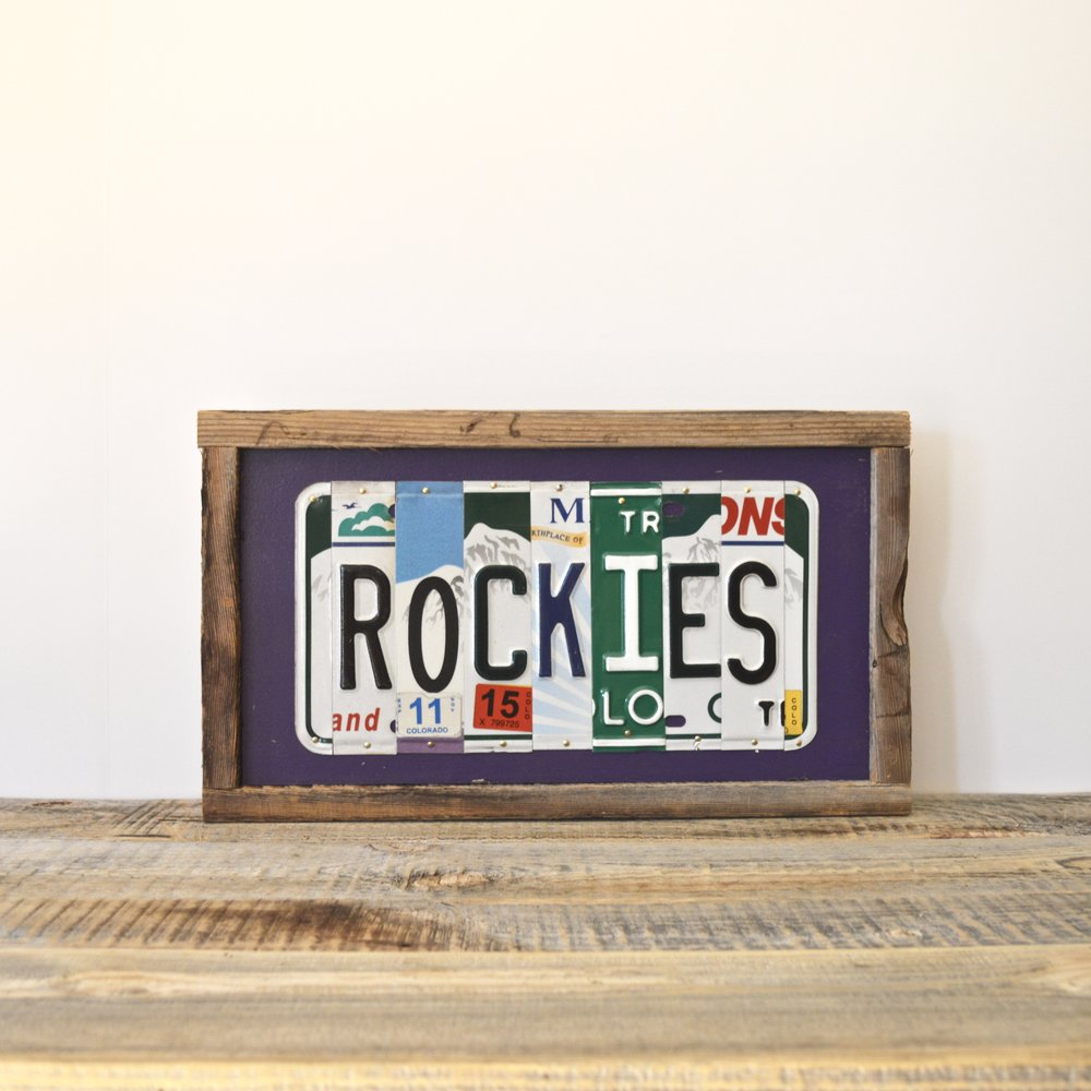 Rockies Recycled License Plate Wall Hanging