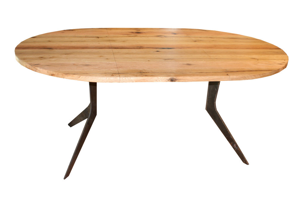 Extendable White Oak Boomerang Dining Table - large.jpg