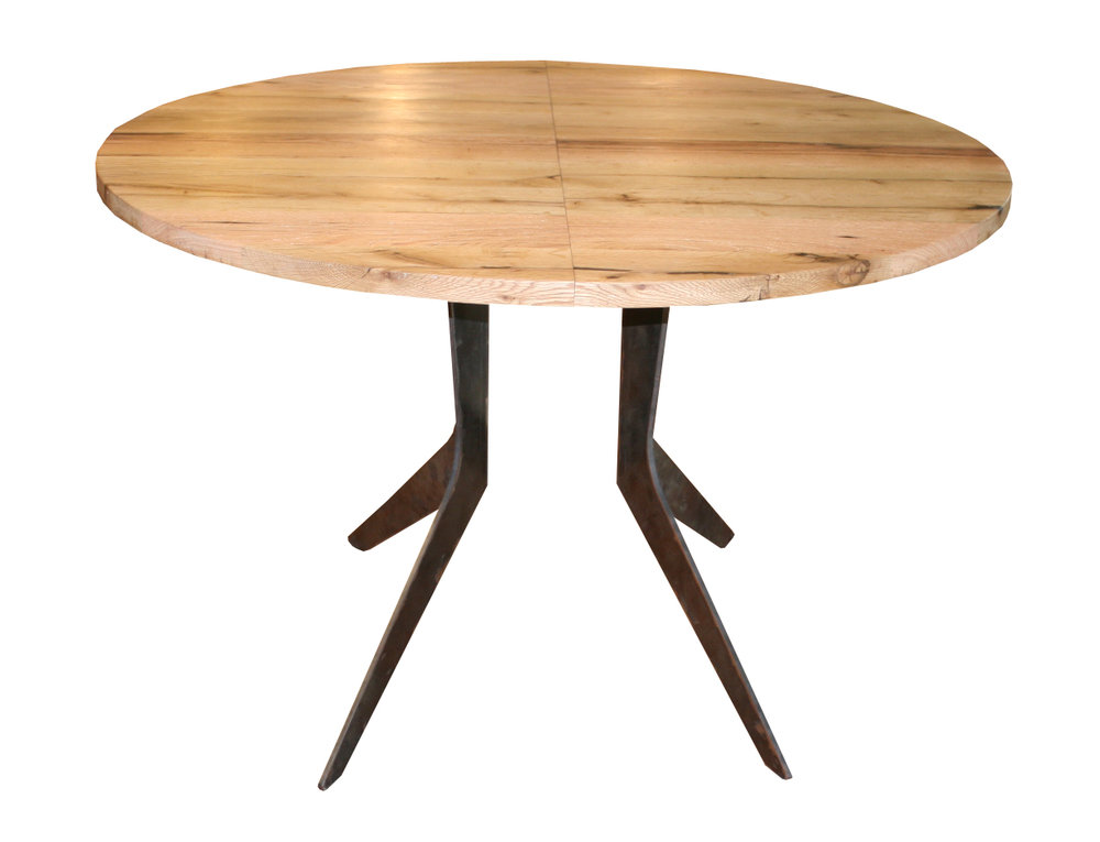 Extendable White Oak Boomerang Dining Table - small.jpg