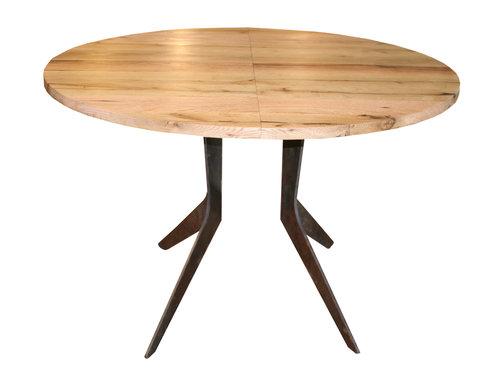 Extendable White Oak Boomerang Dining Table - small.jpg