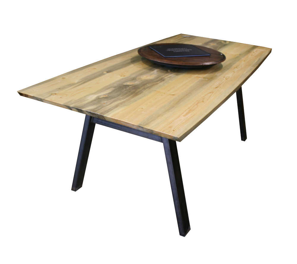 Curved Beetle Kill Angled Post Leg Dining Table.jpg