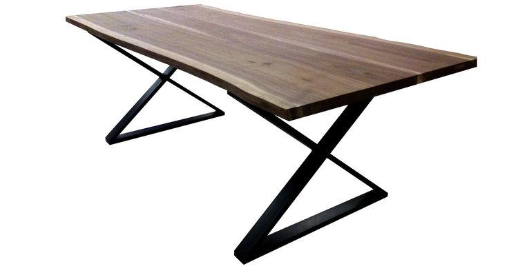 Live Edge Walnut Joined X-Leg Dining Table.jpg
