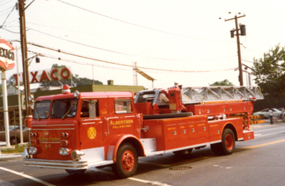 This 85' Maxim aerial ladder served as 809.   Circa 1974