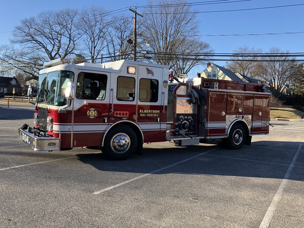 Engine 804 operates out of the Dewey Avenue Firehouse, and responds to all fires and other emergencies. 804 is a 2009 Ferrara