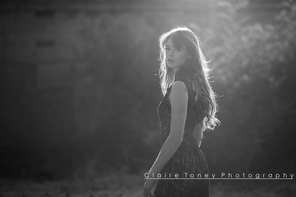 Sunset photo with Emily Turner at the Preston Castle. Photo credit: Claire Toney Photography
