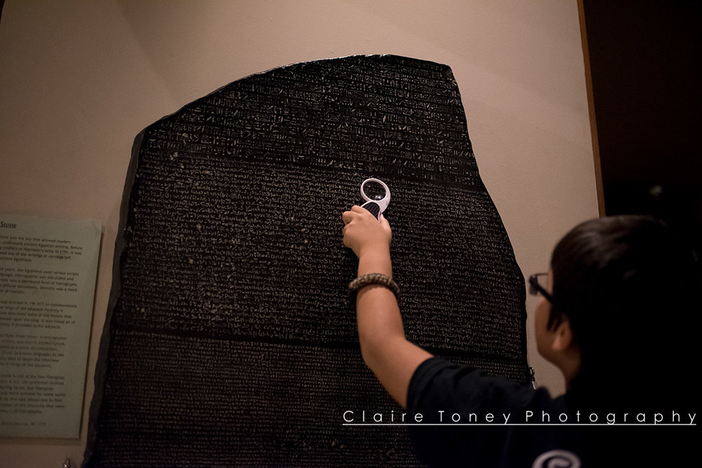 Rosetta Stone at the Rosicrucian Museum in San Jose