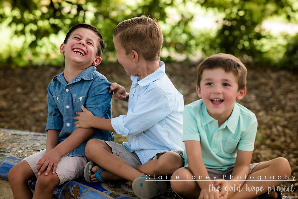 Sometimes being a brother is better than being a superhero - Marc Brown. The Gold Hope Project photo session at the UC Davis Arboretum.