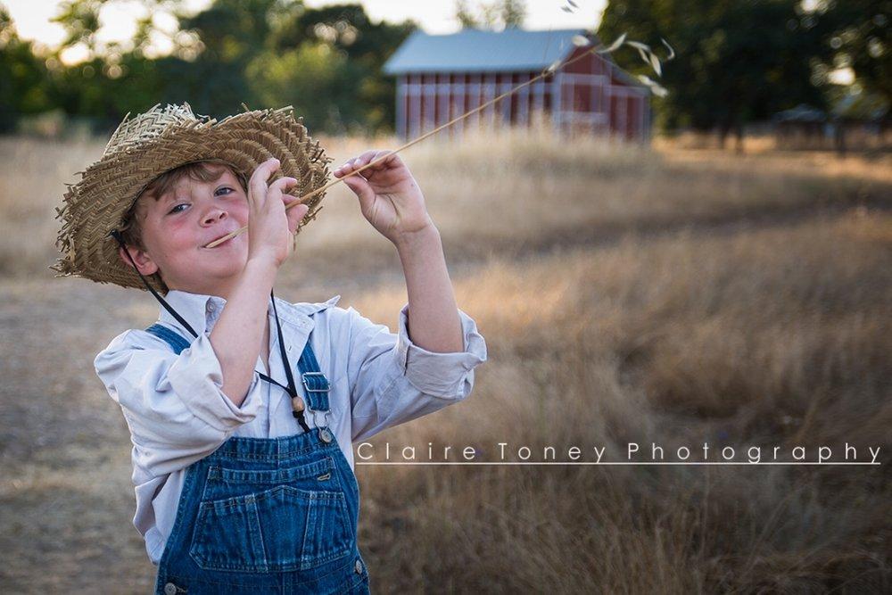 A fun child portrait in Orangevale CA. Claire Toney Photography, Sacramento Photographer