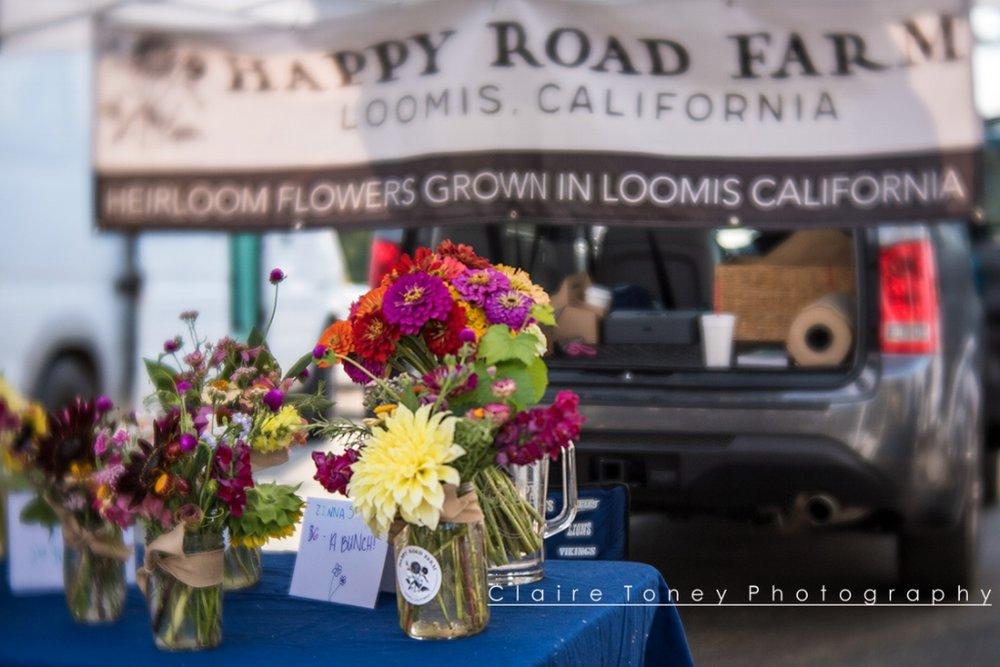 Flowers at High Hand Farmer's Market taken with Lensbaby Velvet 56 Lens