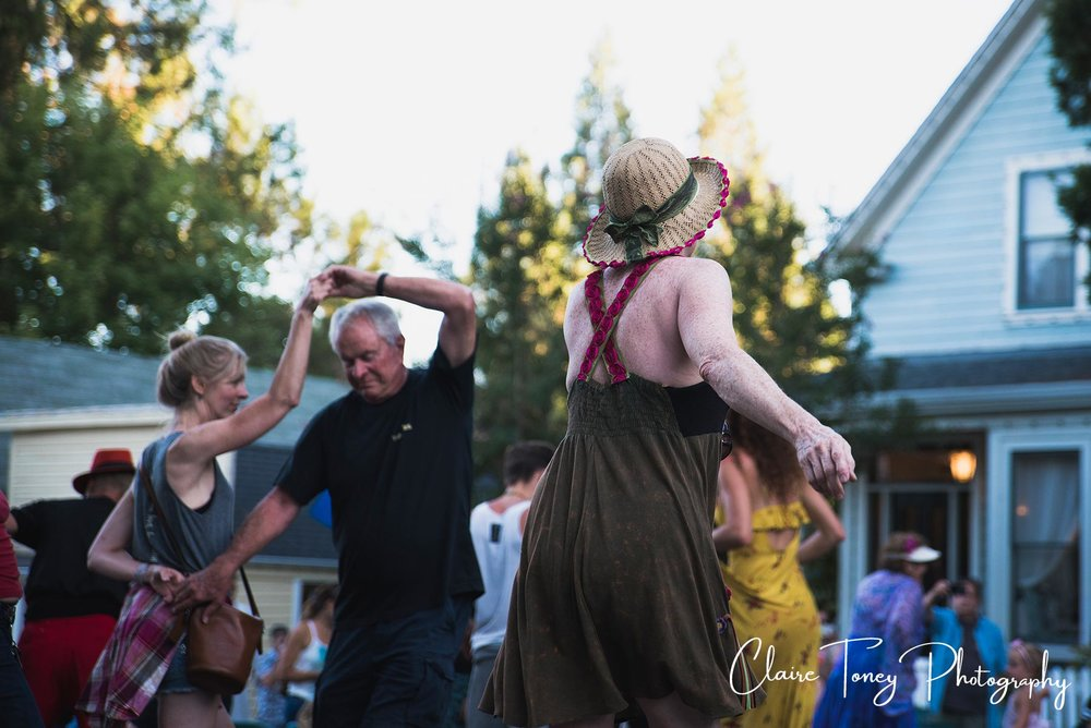 Dancing in Nevada City CA 2017
