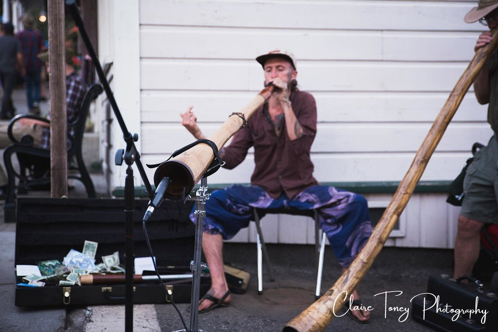 Didjaroo player at Nevada City Summer Nights 2017