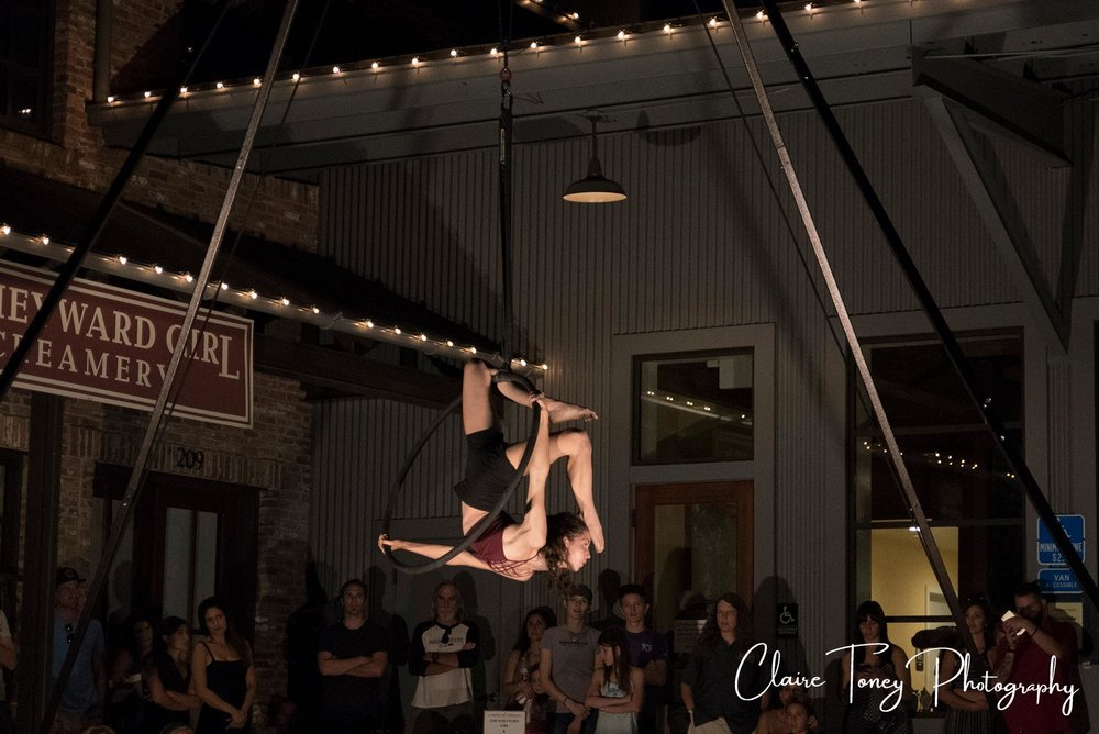 Aerial Lab Performer Nevada City Summer Nights 2017