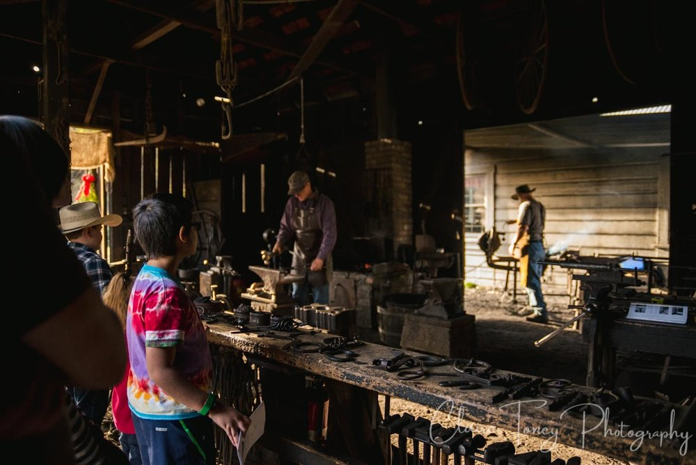 A blacksmith shop